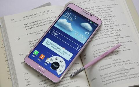 粉红色的三星Galaxy Note 3