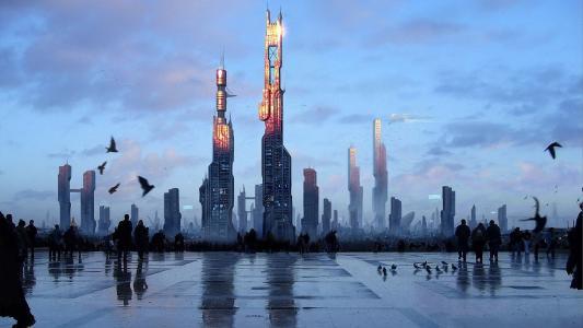 走过未来的城市广场