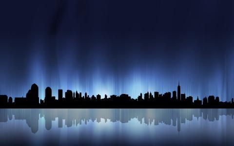 大城市的灯光,背景