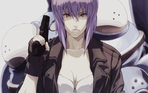 枪,动漫的女孩装甲的鬼魂