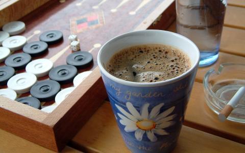 打步步高的咖啡