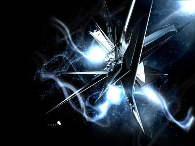 蓝色的水晶和星星