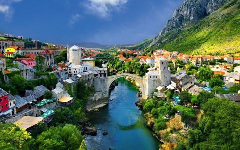 在波斯尼亚的老桥
