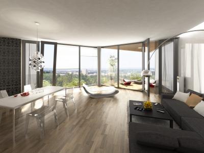 黑色和白色的公寓设计