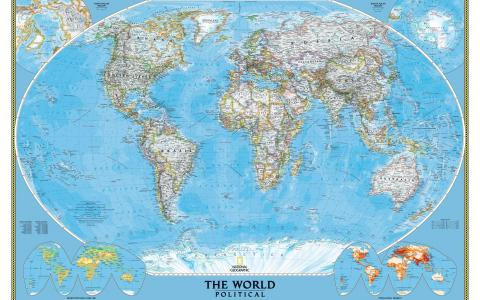 世界大详细的政治地图