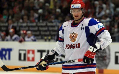 冰球运动员亚历山大Ovechkin