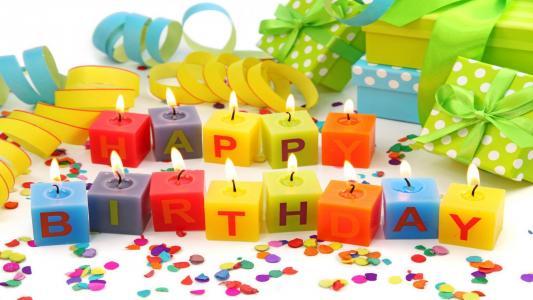 蜡烛与生日问候