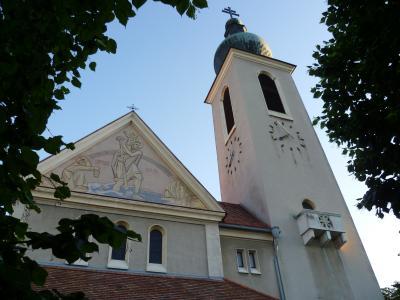 教会在奥地利巴登温泉小镇