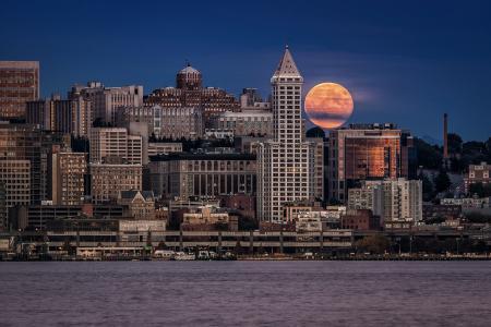 在西雅图的月夜