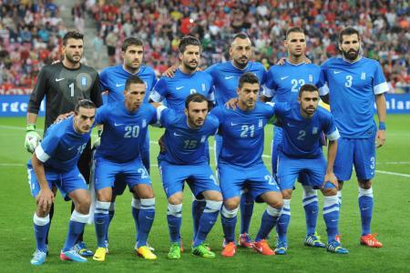 希腊队在2014年巴西世界杯期间