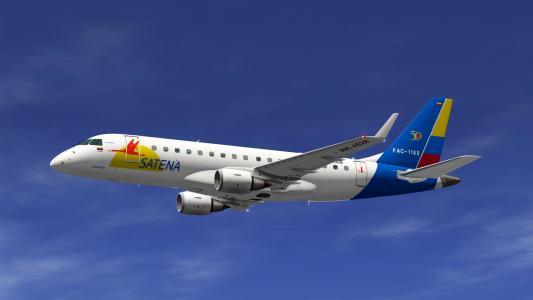 乘客航空公司Satena的Embraer