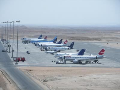 机场在埃及的马萨阿拉姆度假胜地