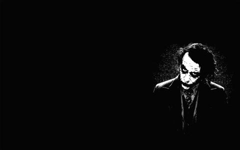 小丑,黑色的背景