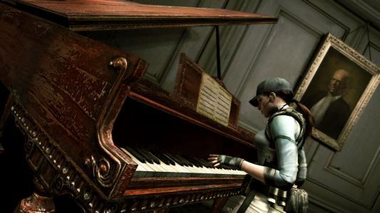 电子游戏生化危机和旧钢琴