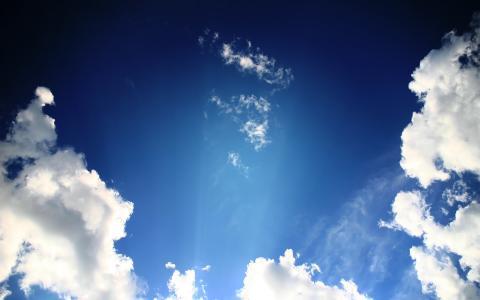 射线穿过云层