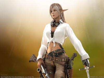 从游戏中的战士艾丽西亚