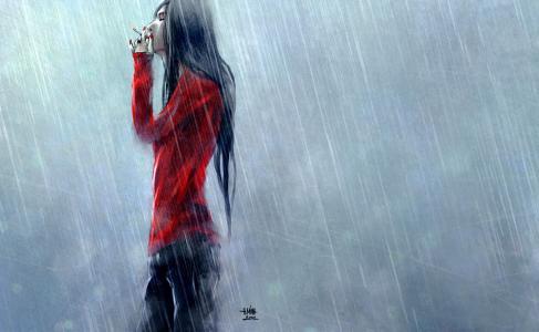 下雨的布鲁内特,艺术家NanFe