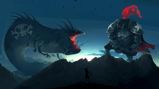 巨人与怪物的战斗