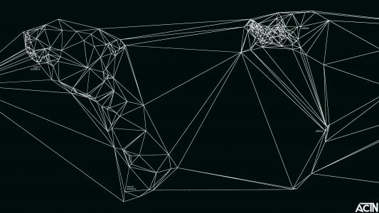 世界的几何地图尼古拉斯·费尔顿,黑色的背景