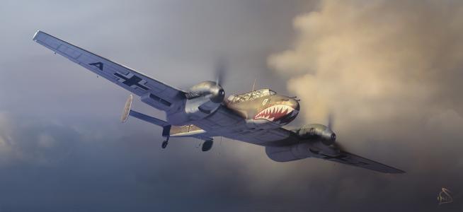 德国Messerschmith在天空中