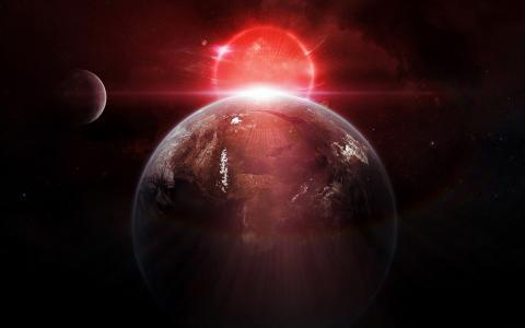 被照亮的行星