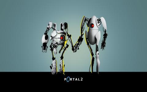 门户2的两个机器人