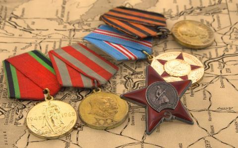 5月9日胜利日的奖牌和奖牌