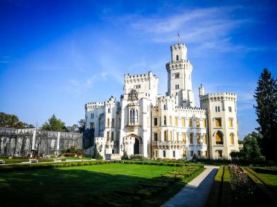捷克赫卢博卡城堡建筑风景