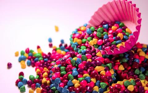 多彩的糖果