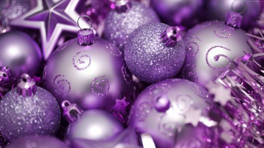 紫罗兰色圣诞节球