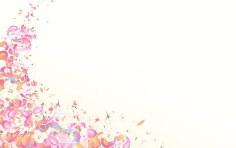 粉红色的花瓣