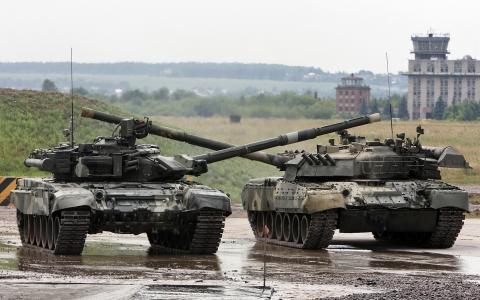 坦克T80和T90