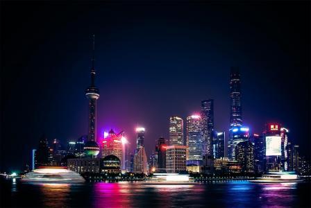 上海外滩东方明珠摄影
