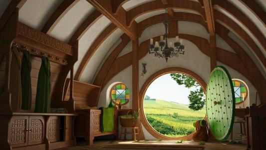 霍比特人之家的家具,指环王