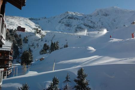 法国Les Arcs滑雪胜地的冰雪覆盖的山坡