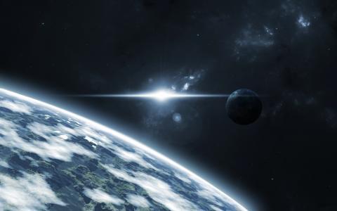 地球的表面