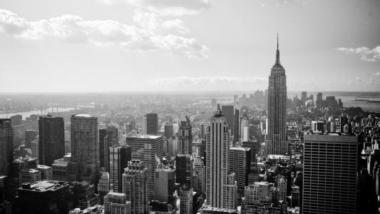 黑色和白色纽约