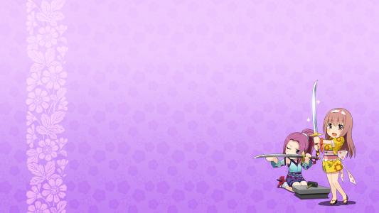在动漫Onigirl剑的女孩