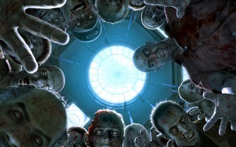 从下面的僵尸视图