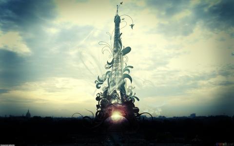 艾菲尔铁塔,创意图片