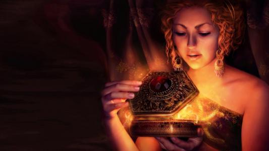 一个魔术盒的女孩