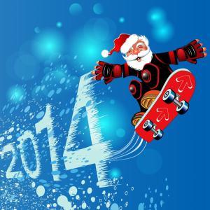 圣诞老人在新的一年2014年