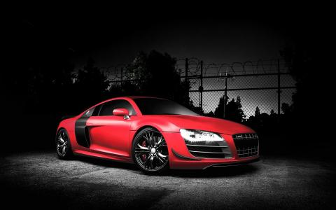 红色奥迪R8 GT