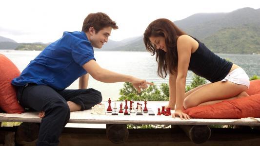 下棋的可爱夫妇