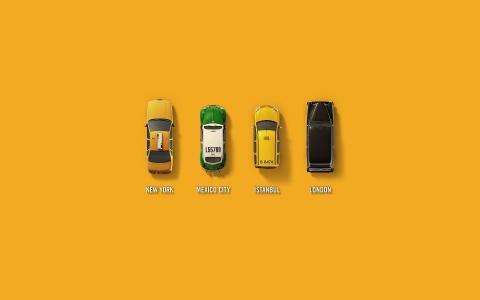 不同国家的出租车