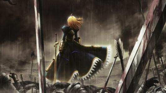 在动漫的战场上的女孩命运零