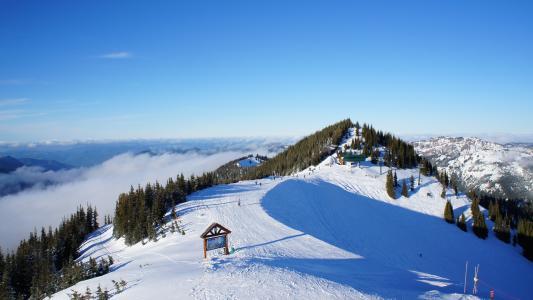 滑雪胜地在美国