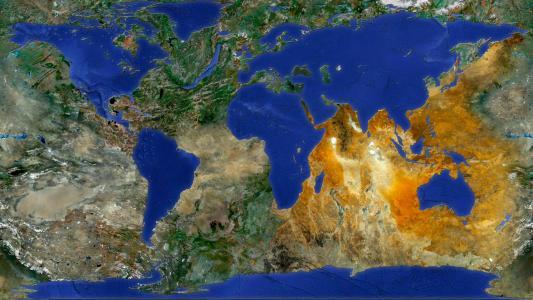 陆地和海洋改变了地方