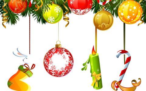 2012年新年在圣诞树上