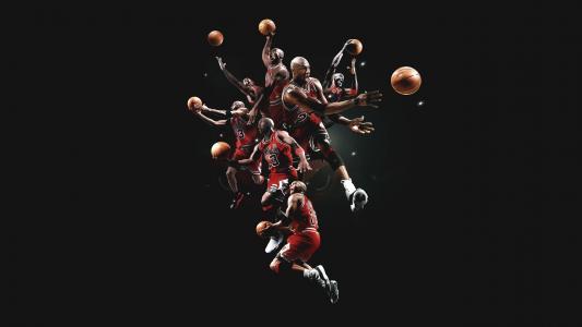 篮球传奇迈克尔·乔丹